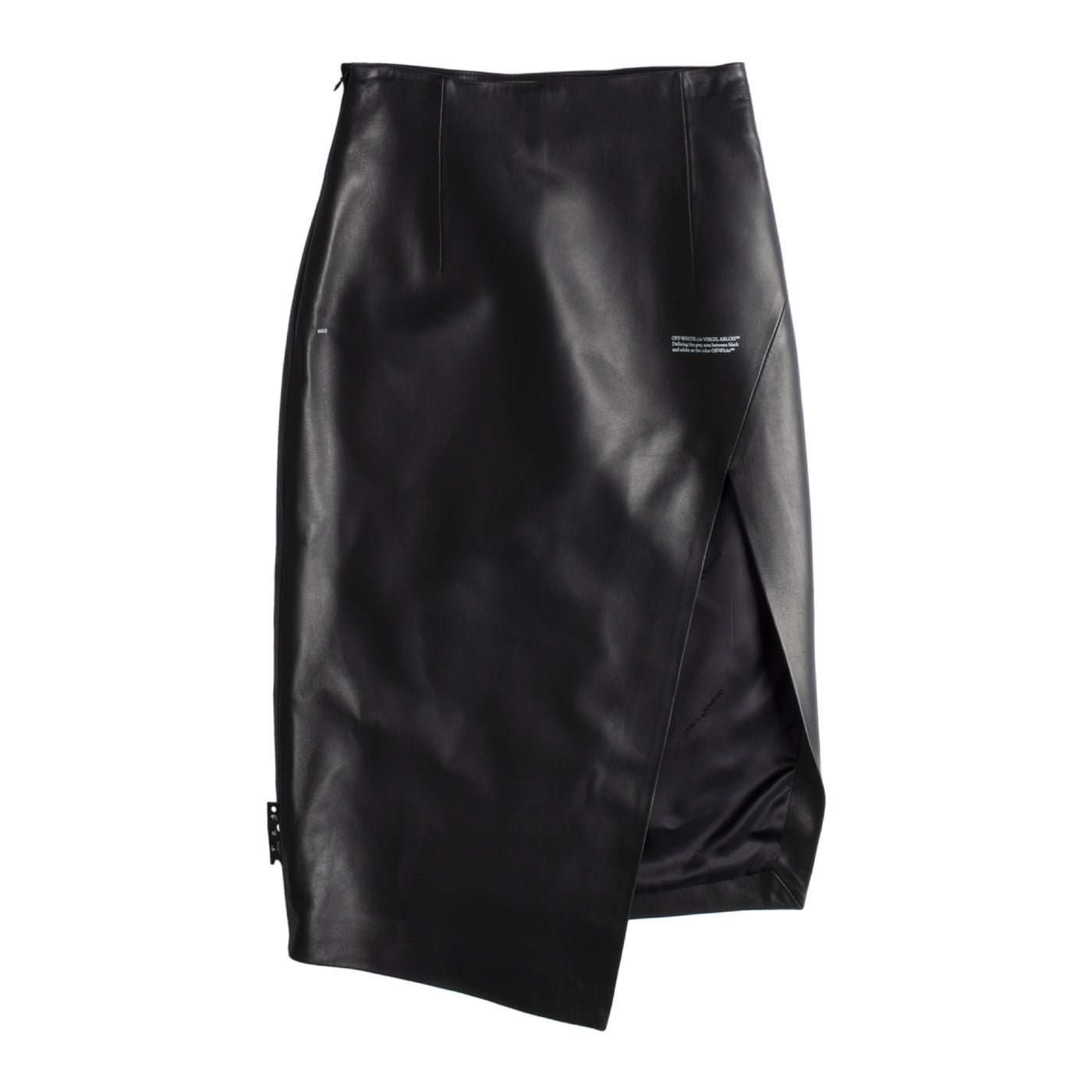 Load image into Gallery viewer, OFF-WHITE SIDE SPLIT SKIRT BLACK