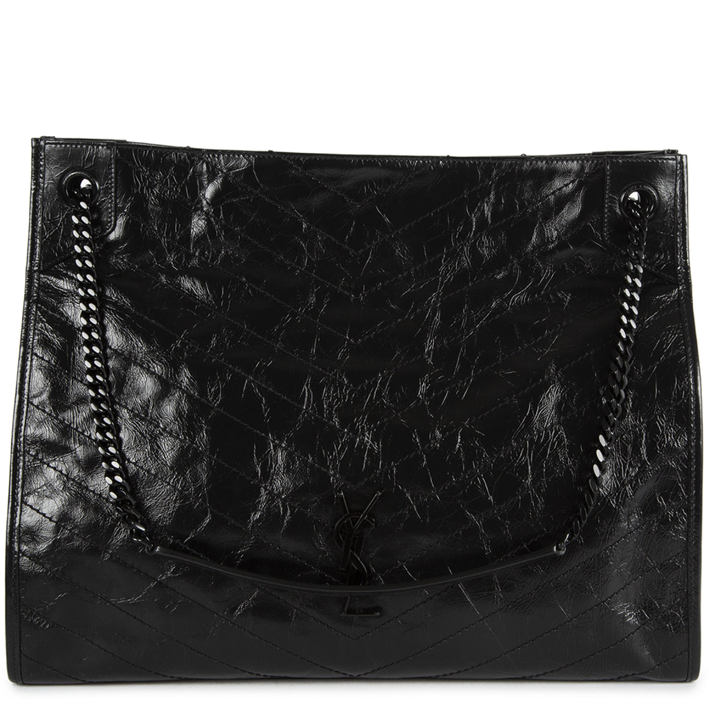 "Load image into Gallery viewer, SAINT LAURENT ""NIKI"" LARGE SHOPPING BAG BLACK"