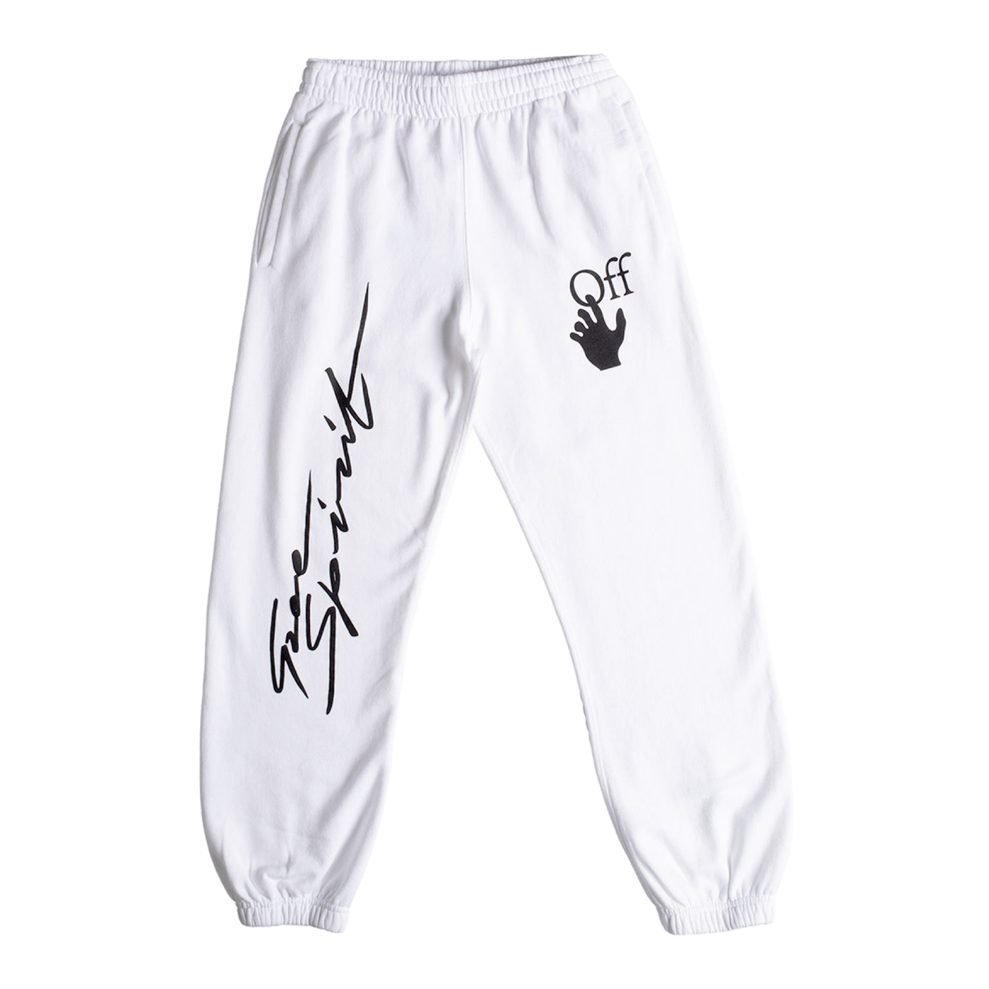 Load image into Gallery viewer, OFF-WHITE PENCIL ARCH SHORTEN SWEATPANT WHITE