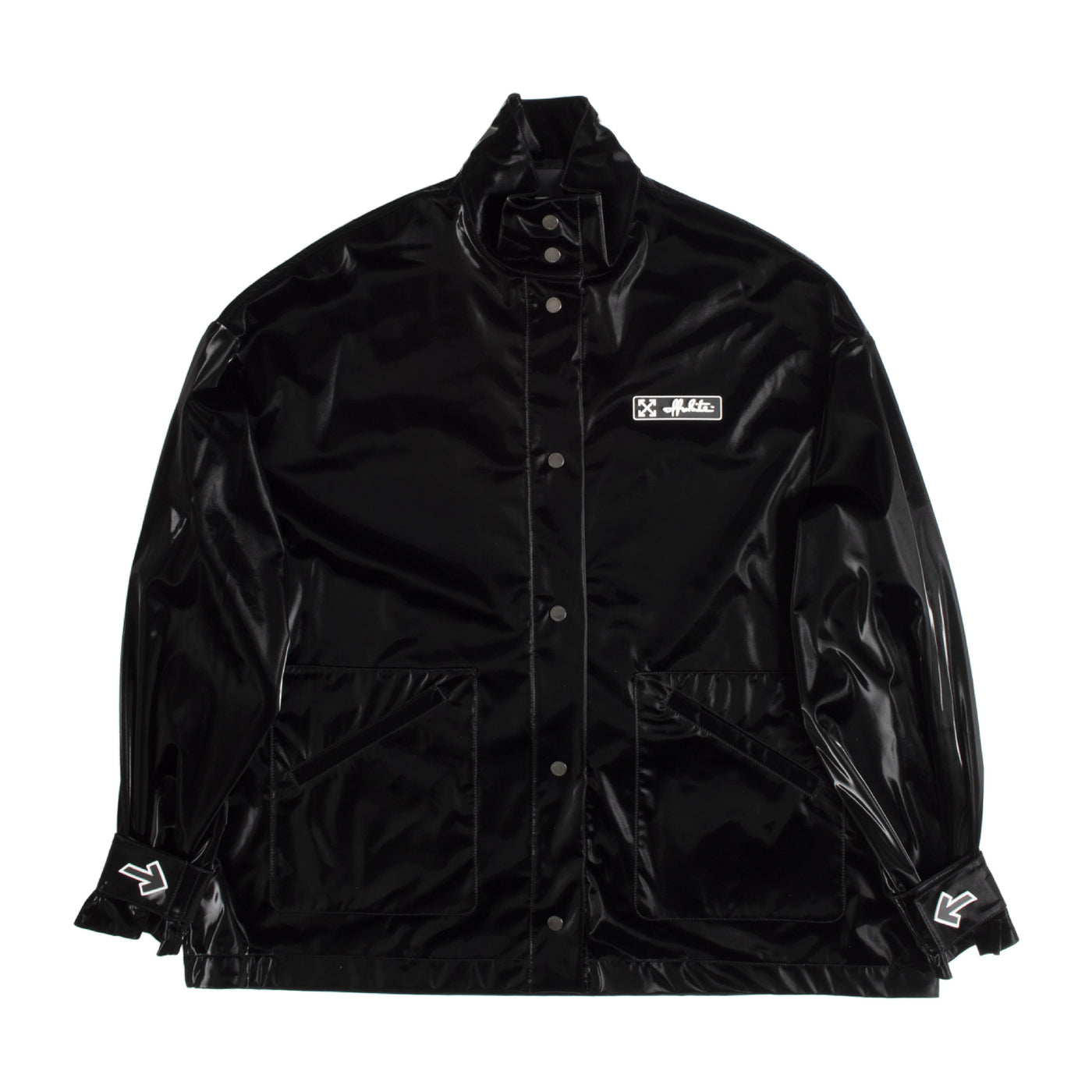 Load image into Gallery viewer, OFF WHITE TRACK COAT BLACK