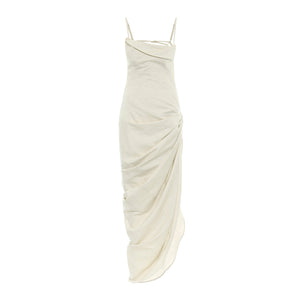 "JACQUEMUS ""SAUDADE LONGUE"" DRESS NEUTRAL"