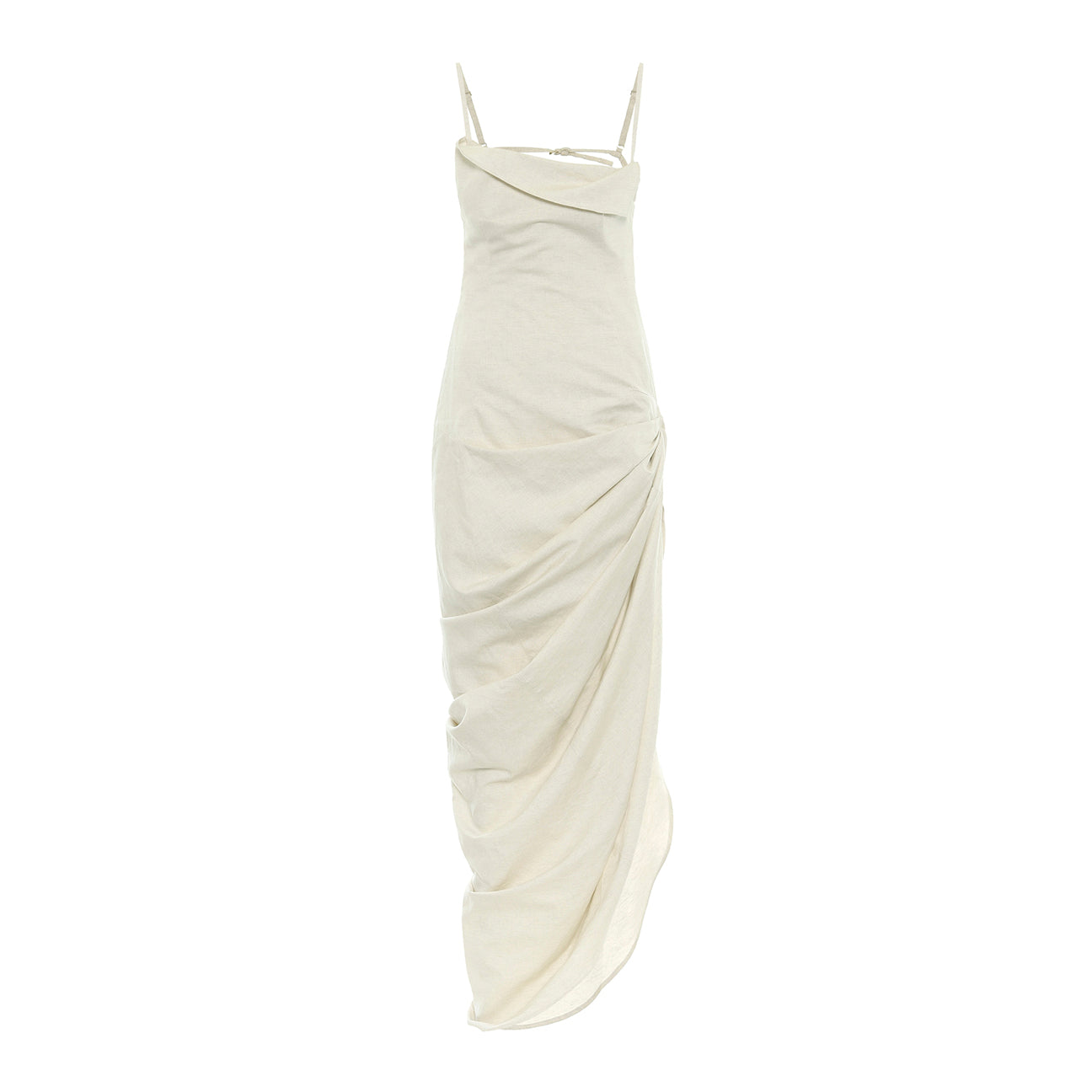 "Load image into Gallery viewer, JACQUEMUS ""SAUDADE LONGUE"" DRESS NEUTRAL"