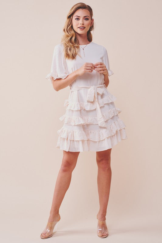 Feels Like Love Ruffled Dress