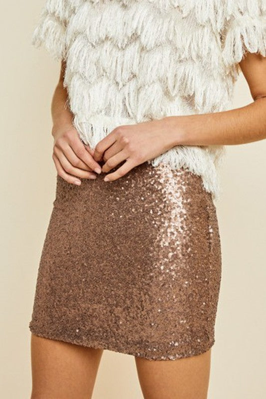 Showstopper Gold Sequin Skirt