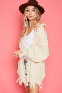 Fringe Knitted Cardigan