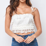 Stellar Lace Crochet Crop Top