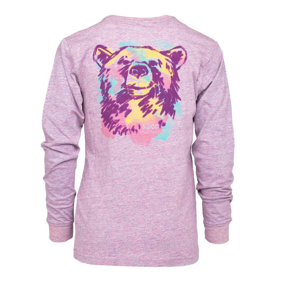 SSCO Girls Watercolor Bear Tee LS