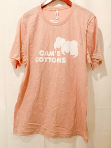 Cam's Cottons Blush Logo Tee