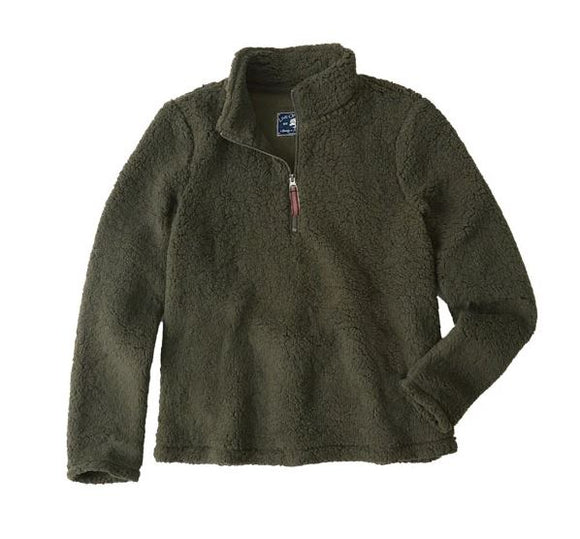 Live Oak Solid Quarter Zip Fleece Pullover