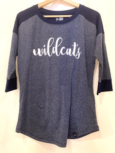 Enterprise Wildcat Script Quarter Sleeve Top