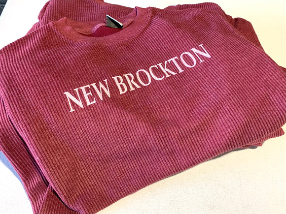 New Brockton Corduroy Crew Neck