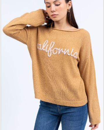 Mocha California Sweater