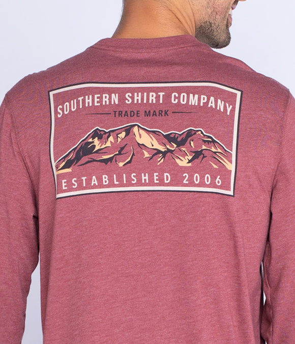 Southern Shirt Company Mountain Stamp Tee LS