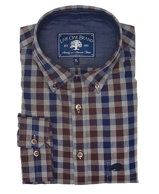 Live Oak Brushed Cotton Button Down