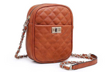 Checker Stitch Crossbody Bag