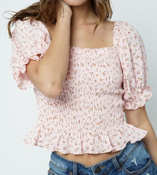 Dreamy Floral Puff Sleeve Top