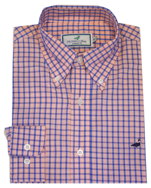 Properly Tied Grayton Peach Sportshirt