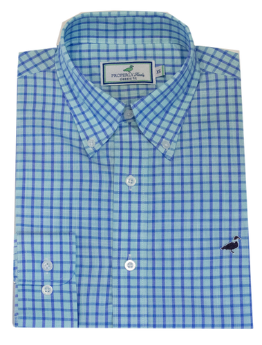 Properly Tied Grayton Teal Sportshirt