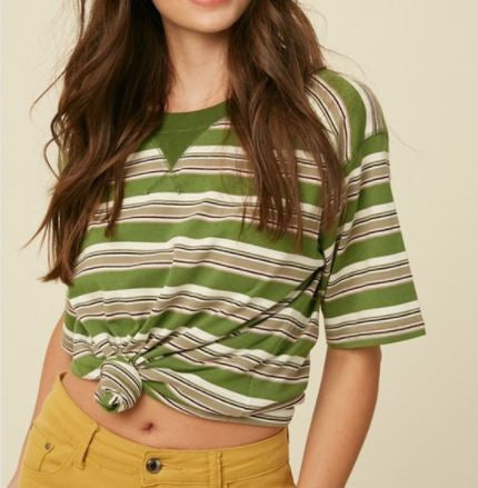 Striped Olive Tee