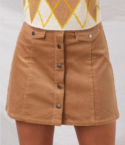 Sweet Honey Corduroy Skirt