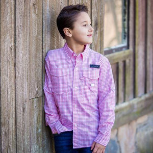 Old South Youth Kitty Hawk Gingham Button Down