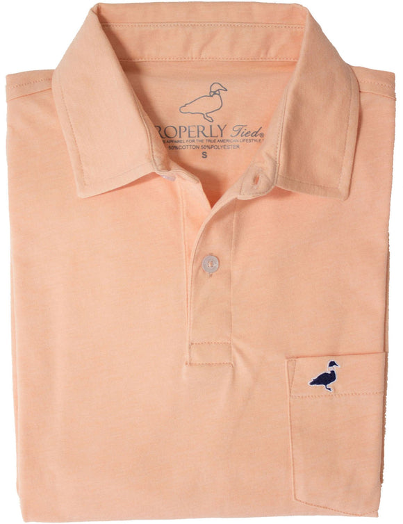 Properly Tied Melon Pocket Polo