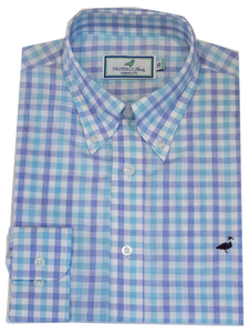 Properly Tied Santorini Teal Sportshirt