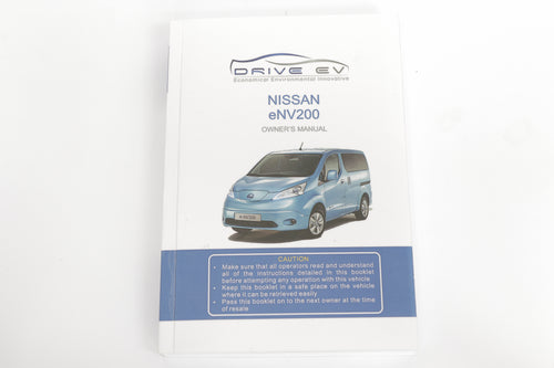 Nissan e-NV200 English owners manual