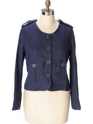 ..Sweet Crop Jacket-Navy