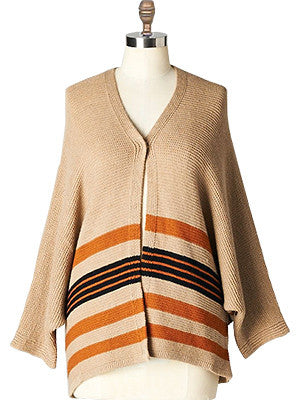 Relaxed Striped Cardigan