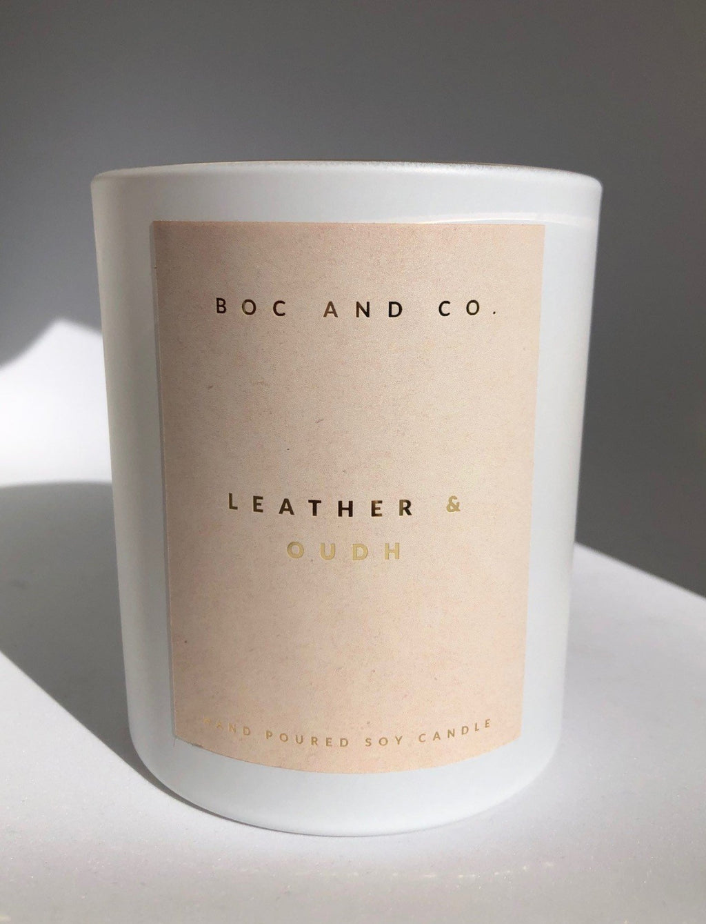 Classic Soy Candle | Leather & Oudh