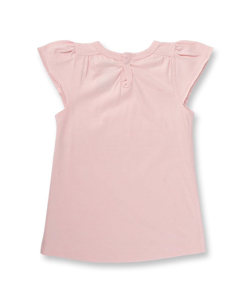 Flutter Sleeve T-Shirt - Dusty Pink