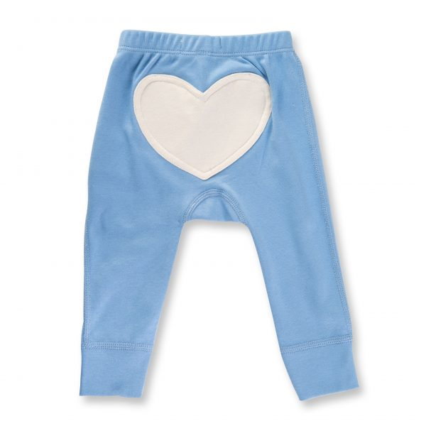 Heart Pants - Baby Blue
