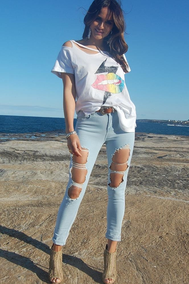 Roxy Distressed Jeans
