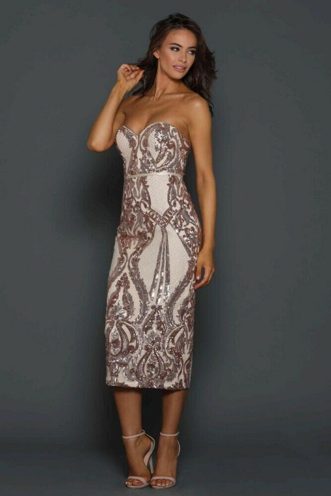 Jones Midi Dress - Rose Gold