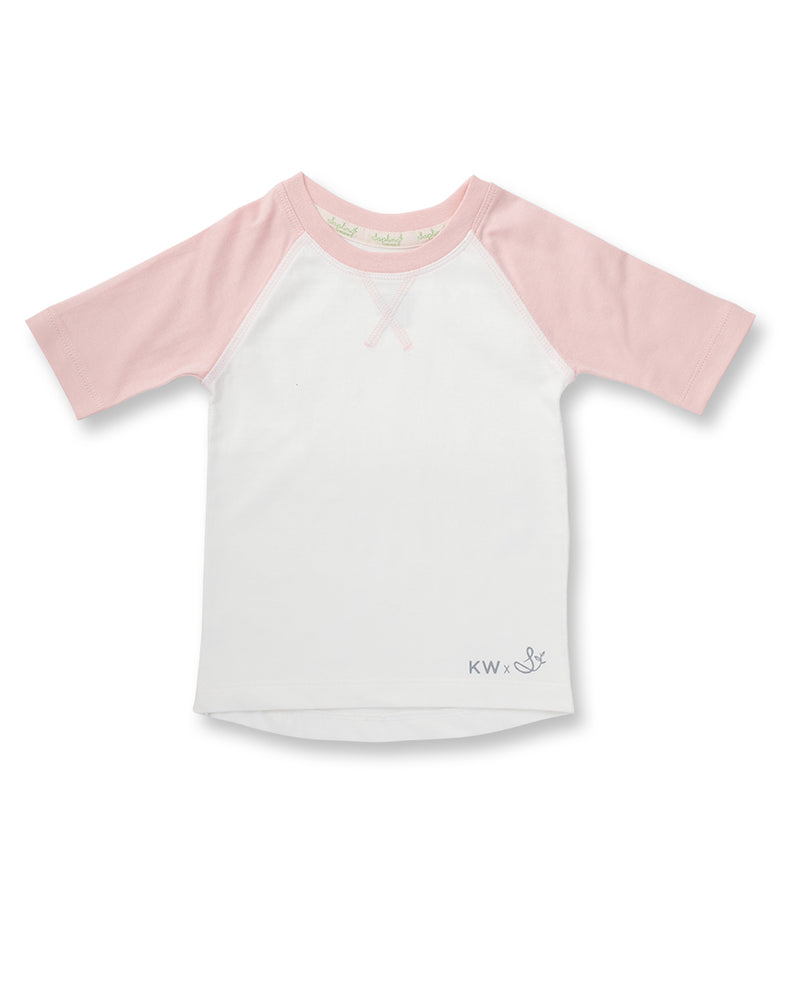 Raglan Sleeve T-Shirt - Blush Pink