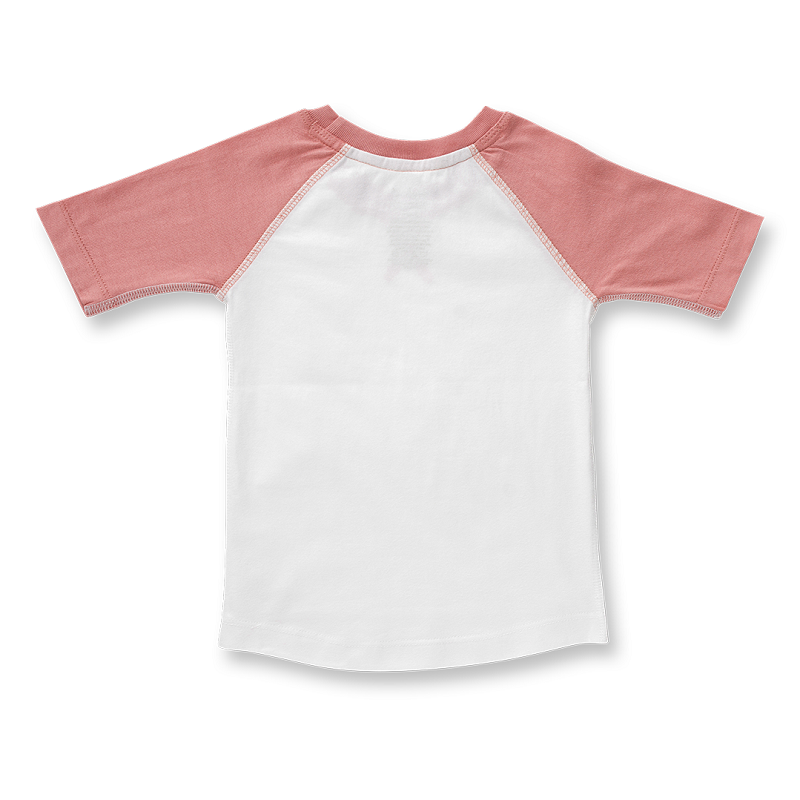 Raglan Sleeve T-Shirt - Rose Pink