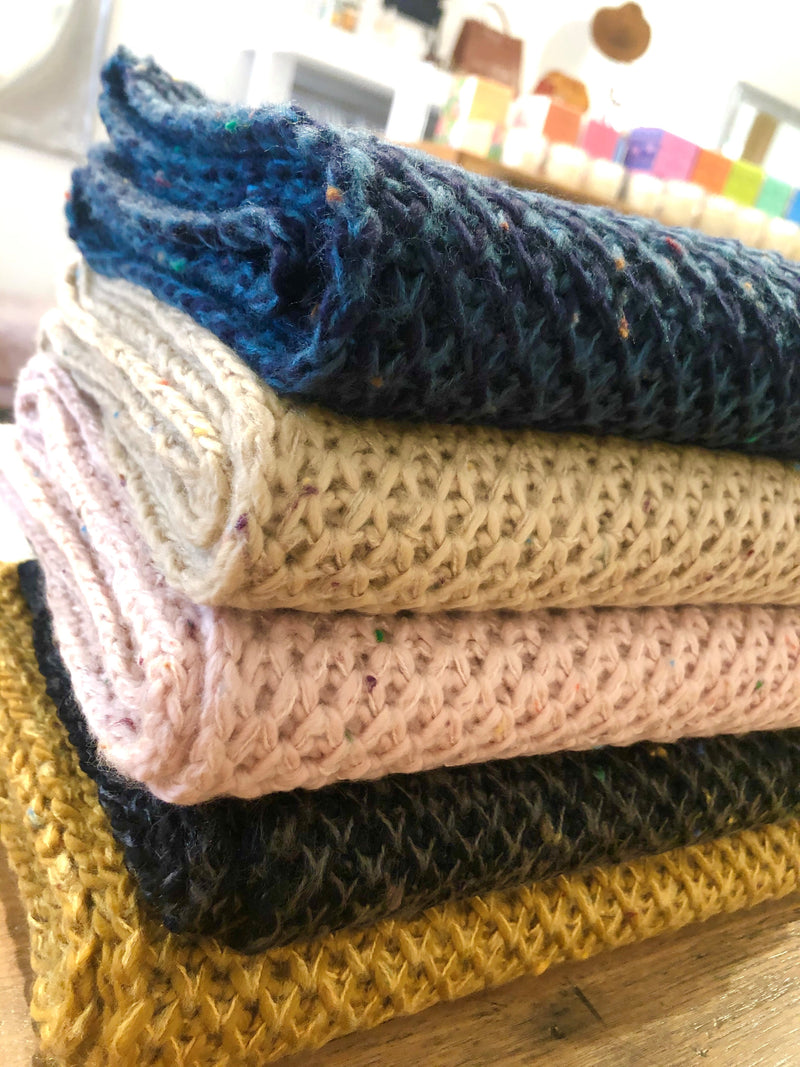 Honeycomb Knit Scarf - Assorted Colours
