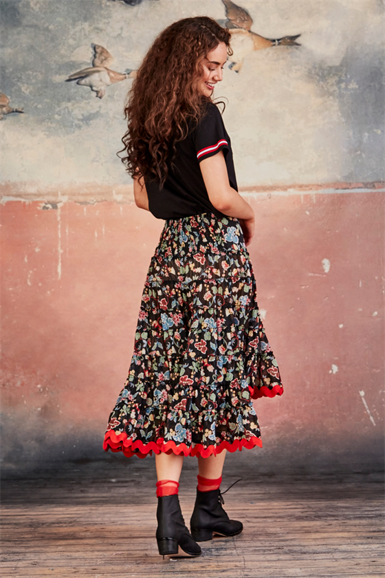 FLORAL LAYERS skirt