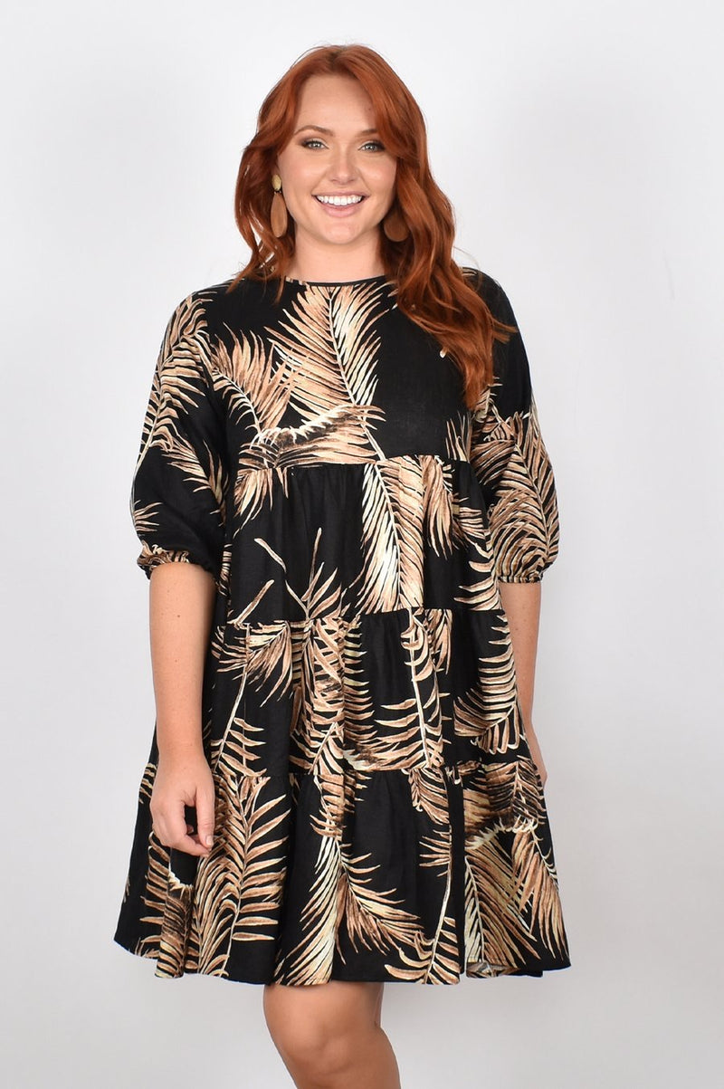 PIPER Palm Print Dress