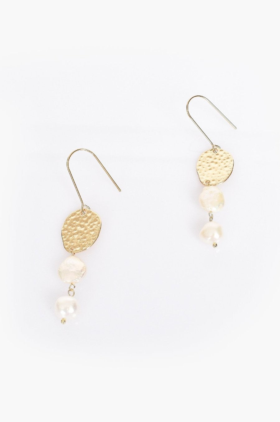Freshwater Pearl Drop Thread-thru Earrings