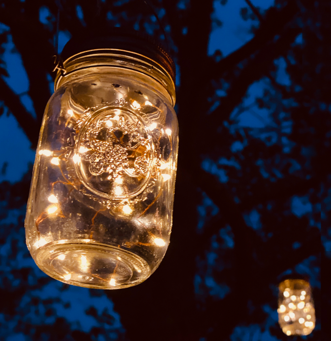 Ball Jar Solar Powered Lights