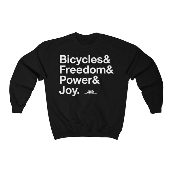 Bicycle Joy Crewneck Sweatshirt