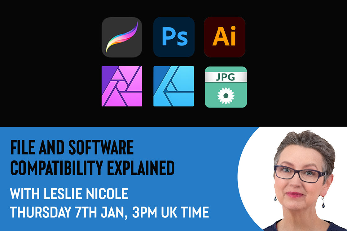 Graphic file formats and software compatibility explained in a free, live webinar.