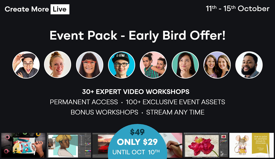 Official Event Pack for Create More Live Event at Design Cuts.