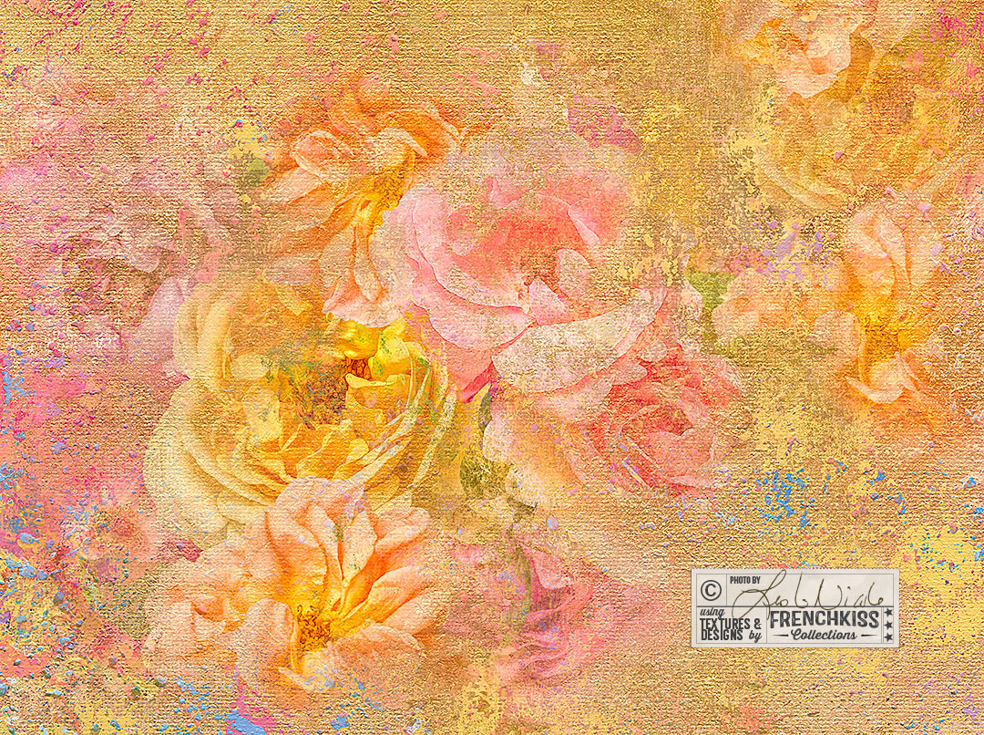 Floral Impression by Leslie Nicole using the Impasto Improv No. 1 Painted textures.