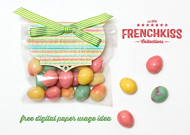 Ideas for the free easter digital paper french kiss collections free digital paper gift bag topper idea negle Gallery