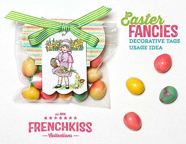 French Kiss Easter Tag Printable Gift package decoration idea.