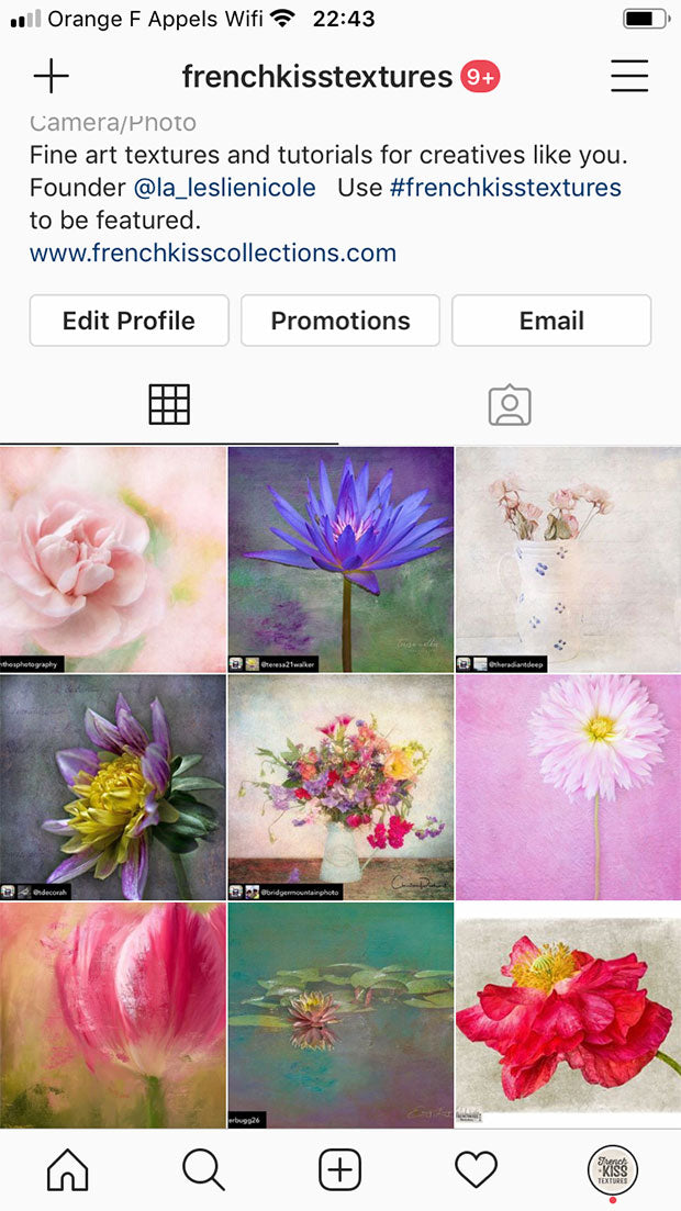French Kiss Textures featured art on Instagram.