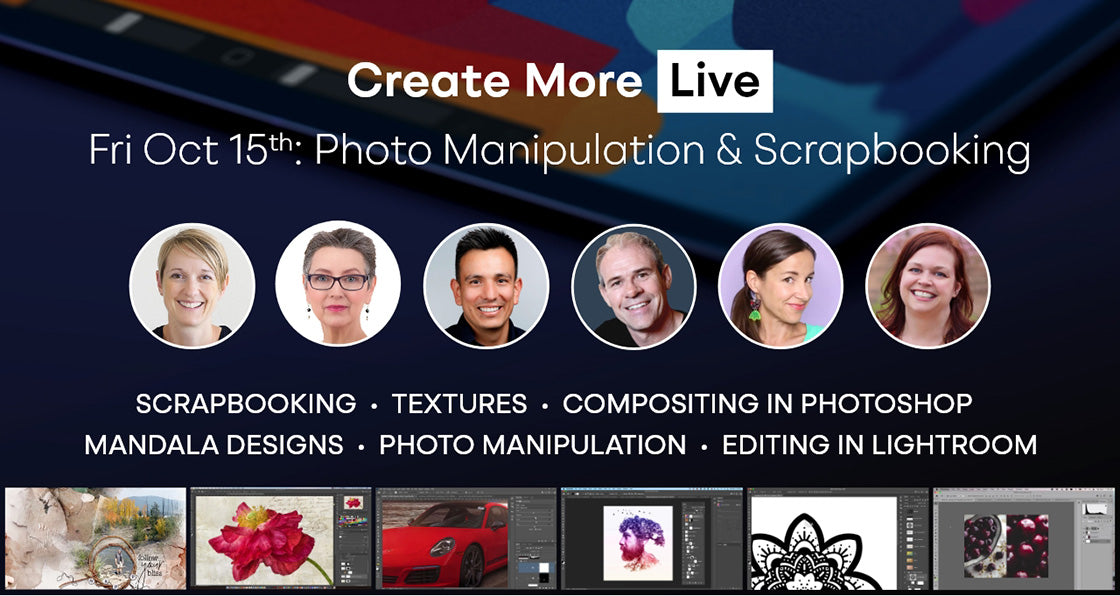 Create More Live Photo Manipulation and Scrapbooking Day